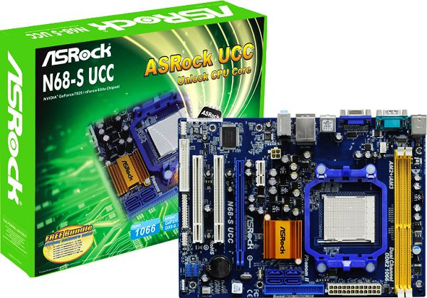 ASrock N68-S UCC AM3 MB with AMD Sempron 140-2.7GHz retail box w